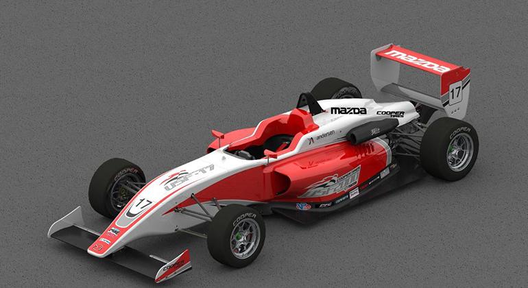 O chassi Tatuus SF17 é o carro utlizado na série USF2000 (Mazda Road to Indy)