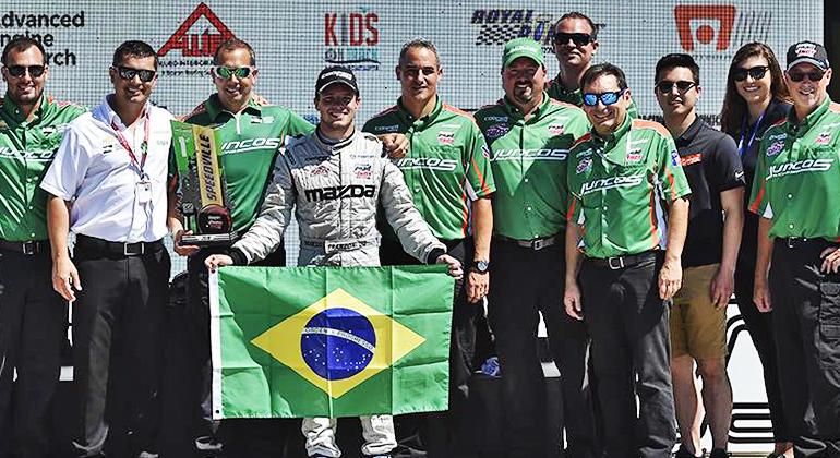 Franzoni está em quinto lugar no campeonato (Mazda Road to Indy)