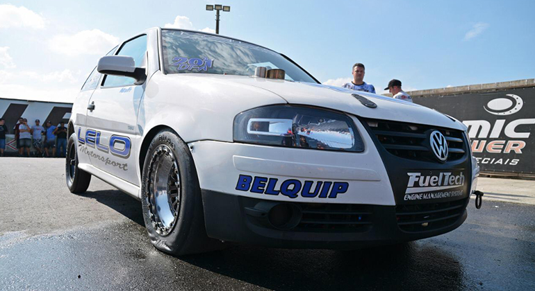 O Gol #201 DTA é preparado pela Lelo Motorsport, em São Caetano do Sul (Arquivo Pessoal Aristeu Jr.)