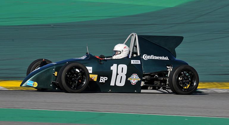 A pintura do carro de Andrey Valério foi inspirada no Kaimann de Niki Lauda (Cláudio Larangeira)