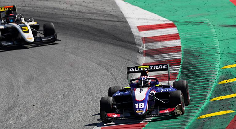 Pedro Piquet, terceiro na corrida de sábado na Áustria) está em sexto na F3-FIA (LAT)